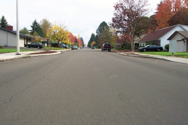 The City of Hillsboro hired us to design street improvements and sidewalks for Grant Street.