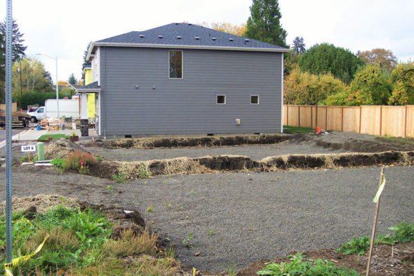 Preparing foundation for small subdivision Noor Park