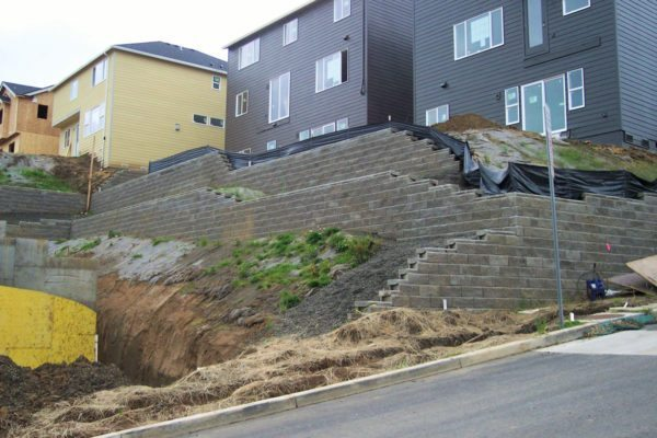 Retaining walls designed for Cedar Ridge and Cedar Ridge North