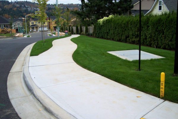 sidewalk design and street improvement
